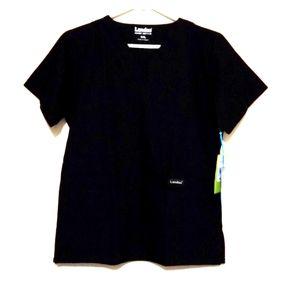 Black scrub top size small